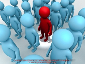 stand out from the crowd by master isolated images