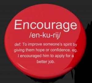 encourage button by Stuart Miles