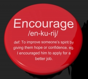 encourage button by Stuart Miles