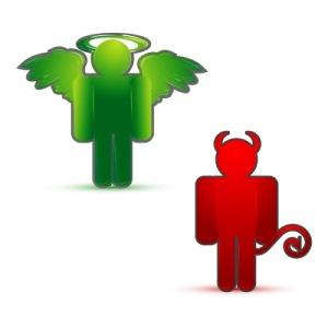 devil and angel by digitalart