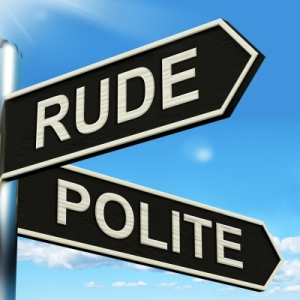rude polite sign by Stuart Miles